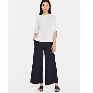NWT Eileen Fisher Stretch Wide Leg Ankle Pants